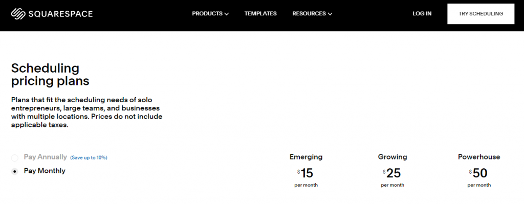 squarespace-acuity-scheduling-pricing